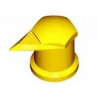 Long Reach Dust Cap Nut Indicator 30mm Yellow